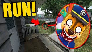 If You See Creepy PAW PATROL Outside Your House, RUN AWAY FAST!! (Scary)