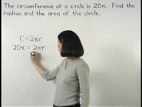 how to work out circumference from area