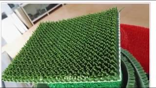 Car fender plastic grass making machine