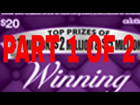 $600 Winning Millions Calif Scratchoff Book Part 1 of 2