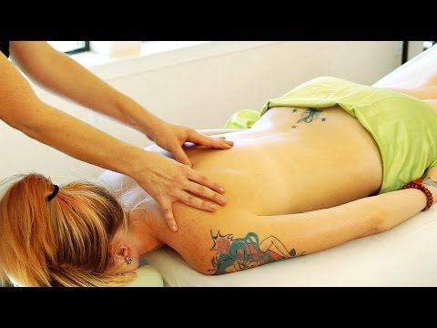 ASMR Back Massage 2; Swedish Massage Therapy Techniques For Back Rubs; Full Body Massage Series 4