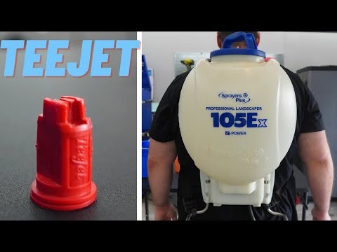 Teejet Nozzle Upgrade For Battery Backpack Sprayer   Accurate Results For Sprayers Plus 105EX