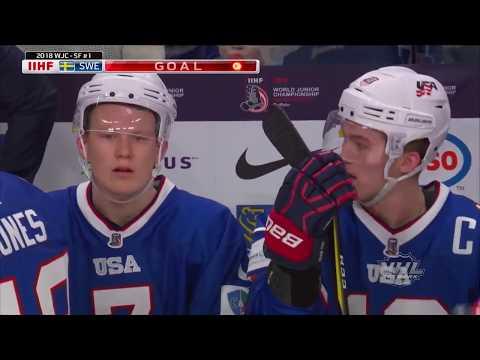 2018 WJC: Highlights - USA 2, Sweden 4 (Semifinals)
