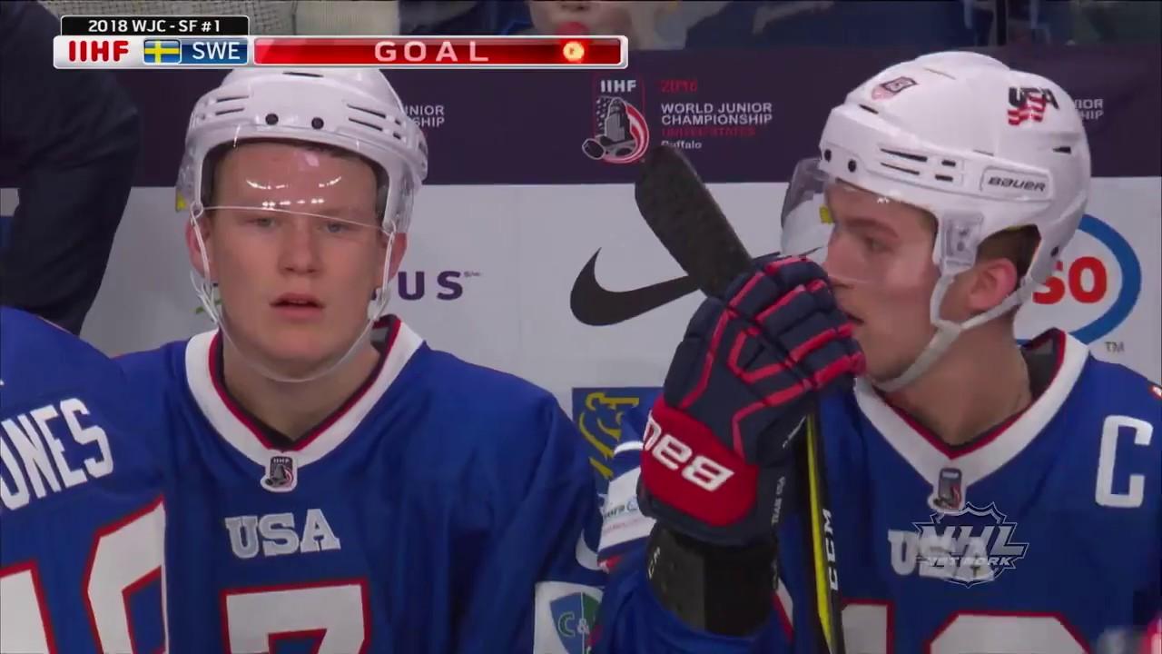 2018 Wjc Highlights Usa 2 Sweden 4 Semifinals
