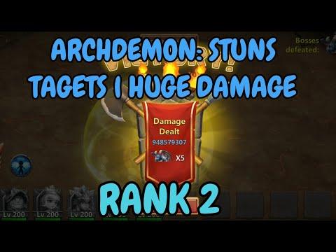 Archdemon L Stuns Targets Huge Damage L 10.948B DMG L Castle Clash
