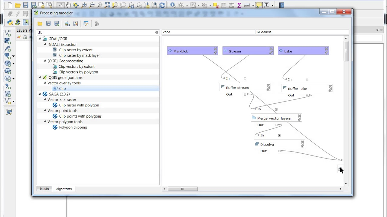 QGIS 2 18 Modelbuilder in processing