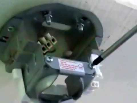Installation procedures for KDK R48SP ceiling fan - YouTube