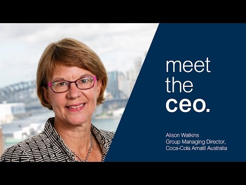 Meet the CEO - Alison Watkins Group Managing Director of Coca-Cola Amatil