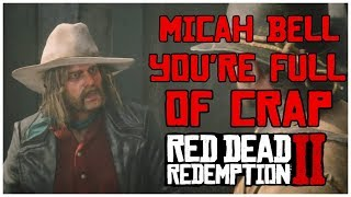 Top 4 Times Arthur caught Micah Lying | Red Dead Redemption 2