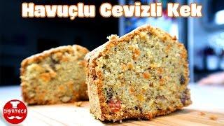 Havuçlu Kek Tarifi | Havuçlu Cevizli Tarçınlı Kek | Pişirmece