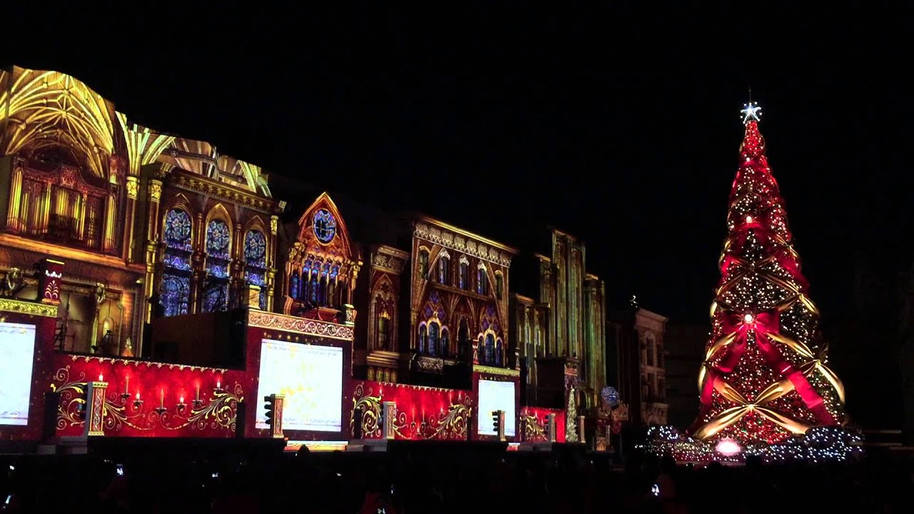 Universal Studio Japan Christmas tree 2014 - YouTube