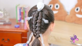 Skeleton or Mummy hairstyle for Halloween