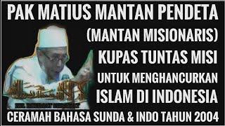 Mantan misionaris bongkar misi menghancurkan islam full