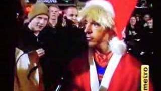 Limahl in Oslo as Santa (1996)