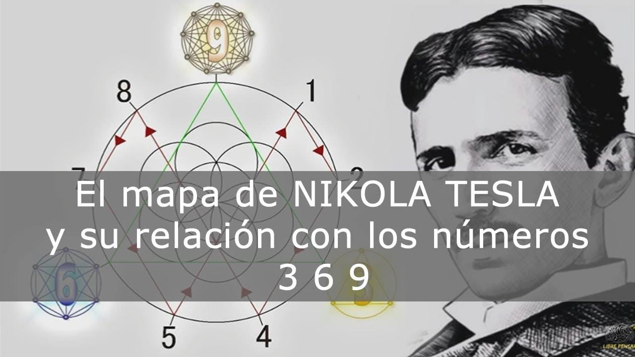 El MAPA de Nikola Tesla y su relación con los números 3 6 ...