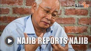 Najib 'orders' police report against...himself