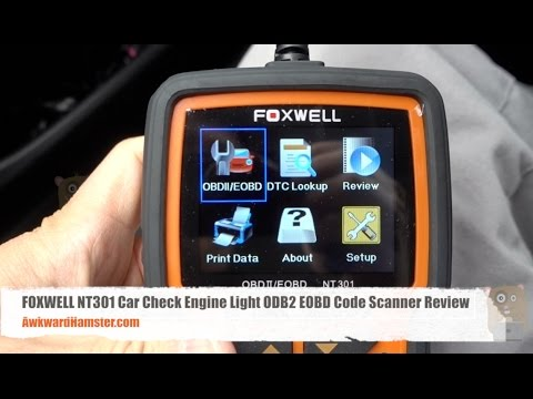 FOXWELL NT301 Car Check Engine Light ODB2 EOBD Code Scanner Review