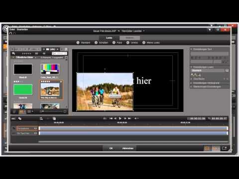 Titeleditor Übersicht in Pinnacle Studio 16 und 17 Video 55 von 114