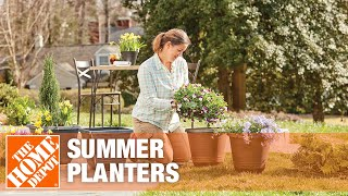 Creating Sun And Shade Planters - The Home Depot Gardenieres