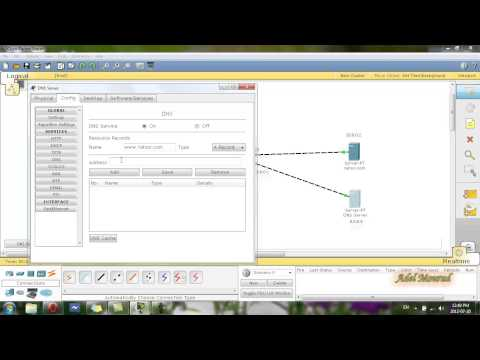 Cisco Packet Tracer DNS+DHCP+HTTP Server & DHCP Service in R