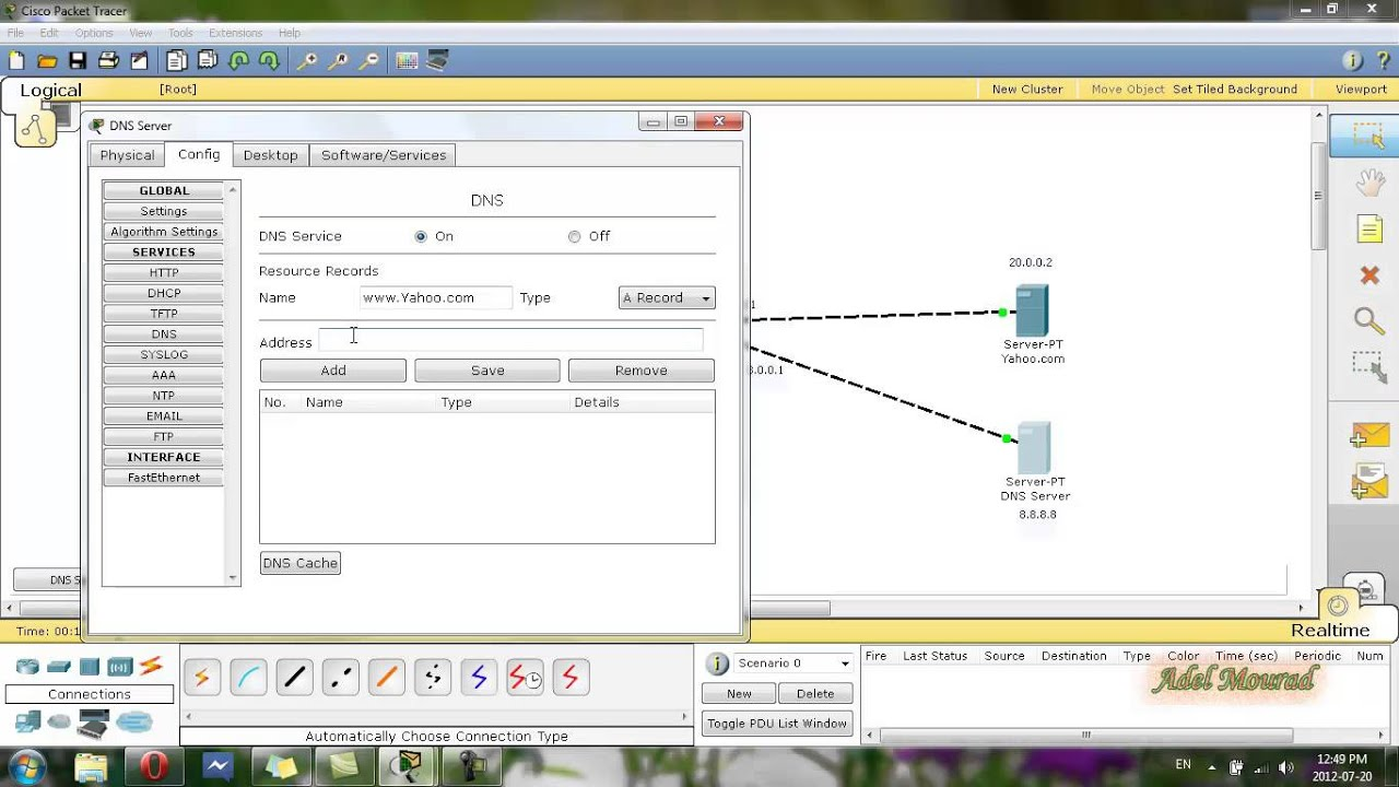 Cisco Packet Tracer Dns Dhcp Http Server Amp Dhcp Service In