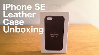 NEW Official Apple iPhone SE Leather Case Unboxing