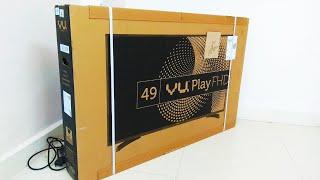VU 49 Inch Full HD TV (49D6575) Unboxing & Review | Vu Play 124cm 49 Inch Full HD LED TV 49D6575