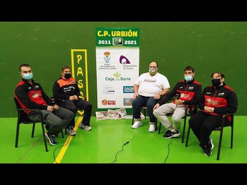 Tertulia deportiva 'Del Plantío a los Pajaritos' con el C.P. Urbión de pelota a mano
