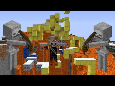 RETOS MINECRAFT | PARKOUR CON SKELETONS| #1 Videos De Viajes
