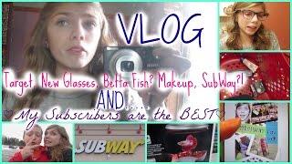 Vlog: Target, New Glasses, Betta Fish, Subway and MORE!! Thumbnail