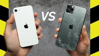 iPhone SE (2020) vs. iPhone 11 Pro Max Drop Test!