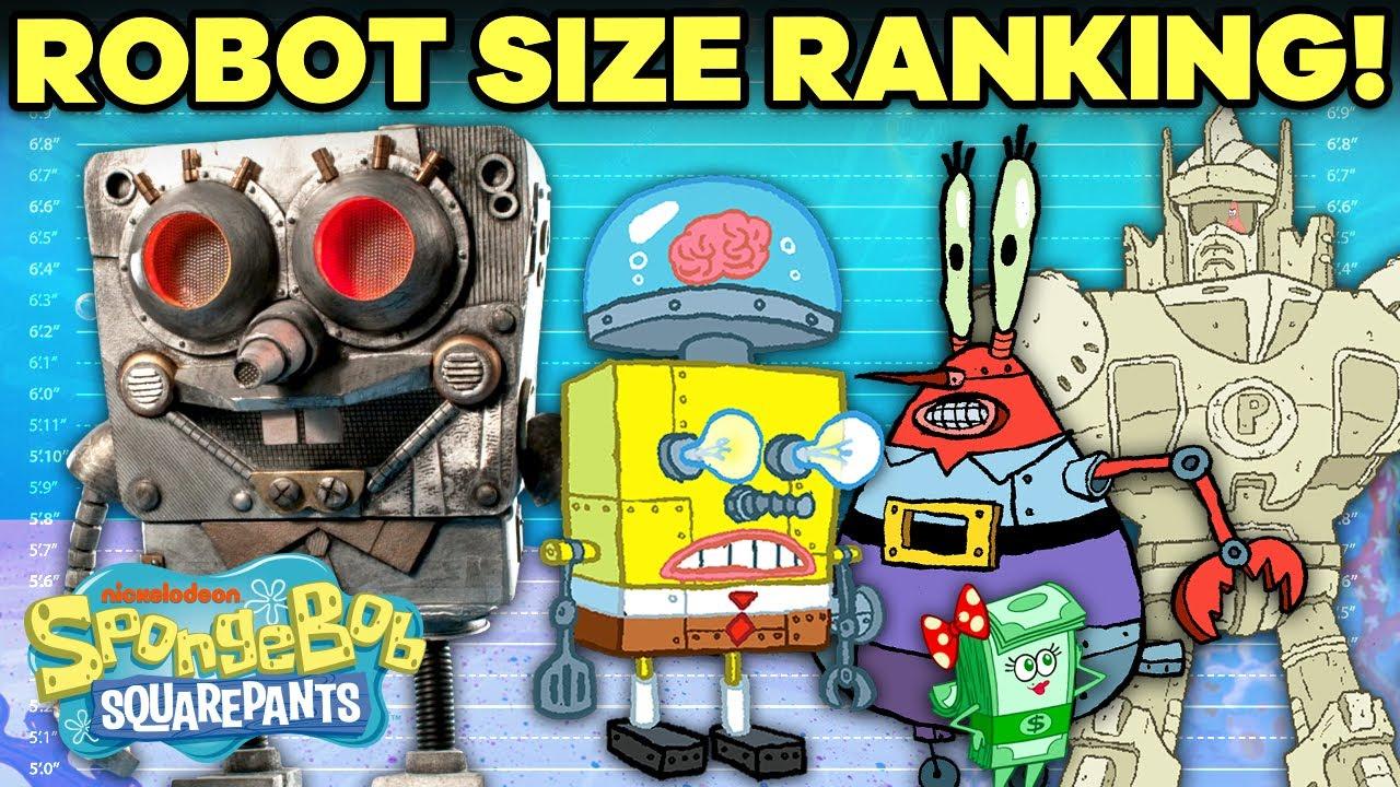 Download Bikini Bottom ROBOTS + MECHS Ranked by Size! 🤖😱 | SpongeBob