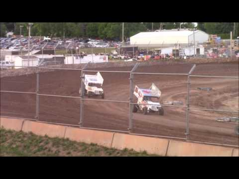 Plymouth Dirt Track 7/2/16 Sprint Car Heat Race and B Main