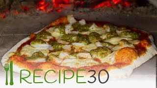 Prawn (Shrimp) pizza recipe in wood fired oven