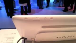 IFA 2012 - TableTop Sony Vaio TAB 20 con Windows 8 computer touch con controllo gestuale