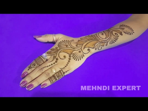 Simple and Beautiful Indo - Arabic Mehndi Design for Hands ll Step by step tutorial 2