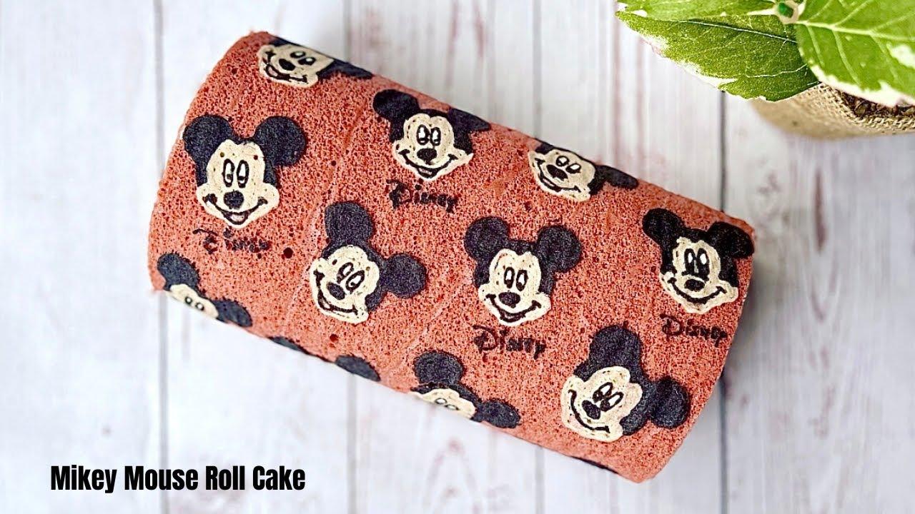 Mickey Mouse Roll cake  เค้กโรลมิกกี้เม้าส์