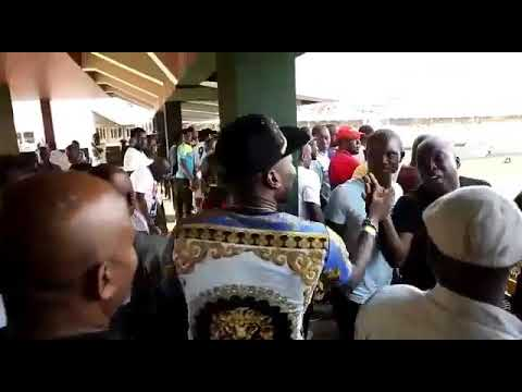 Asamoah Gyan Arrived In Style To Watch Ghana Defeat Kenya