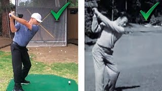 Ben Hogan's Secret Driver Swing Drill! Yes You Can Swing Like Hogan!