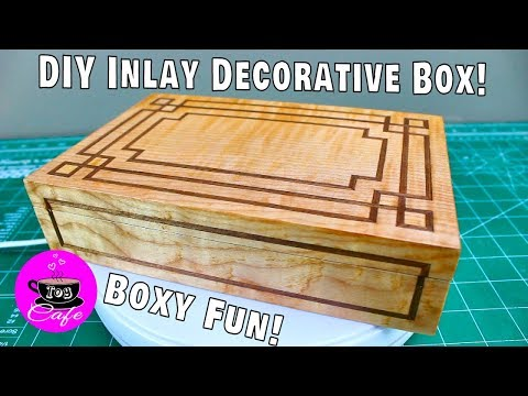DIY Decorative Inlay Box From a Dollar Store Box