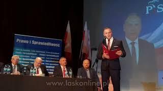 Konwencja wyborcza PiS w Łasku