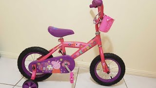 peppa pig ideal first bicycle  unboxing and installing for kids   skip to my lou song