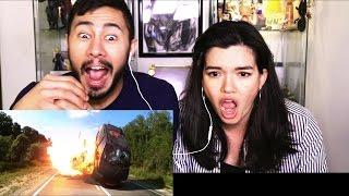 HARDCORE HENRY trailer reaction review by Jaby & Jenn Cadena!