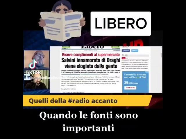 Il titolo di Libero quotidiano su Draghi all'Esselunga di Firenze