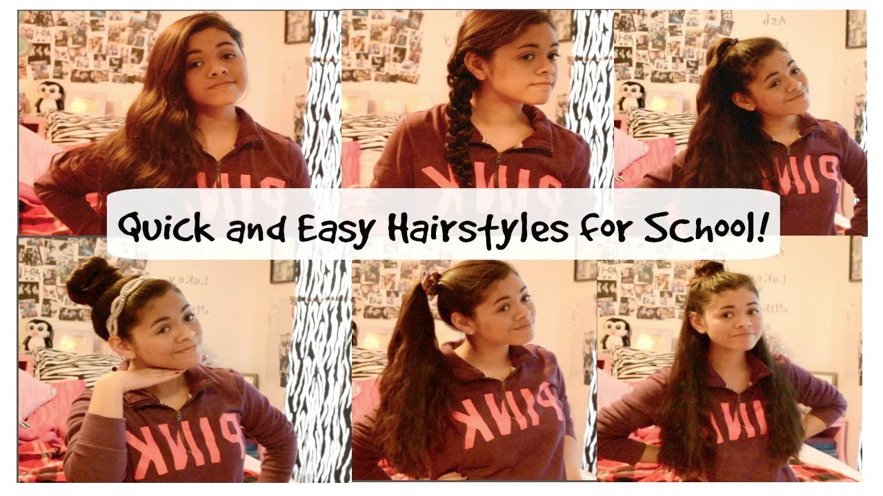 Quick Easy Heatless Hairstyles For School And Running Late Youtube