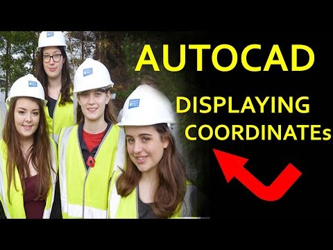 AutoCAD Creating Easting and Northing Coordinates/ To Display the Coordinates of a Point