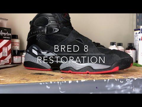 Air Jordan 8 Bred Restoration (Cleaning)