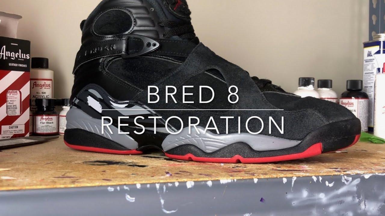 Air Jordan 8 Bred Restoration (Cleaning
