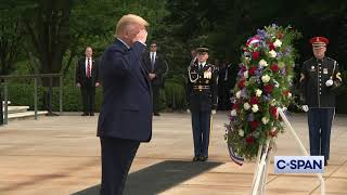 President Trump at Tomb of the Unknown Soldier on Memorial Day.