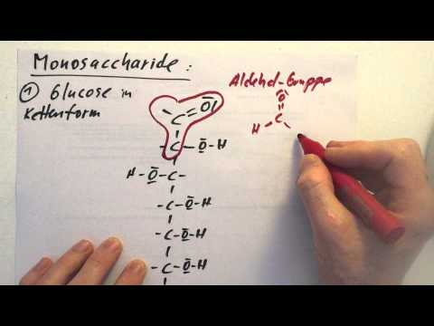 Glucose - Aufbau in der Kettenform